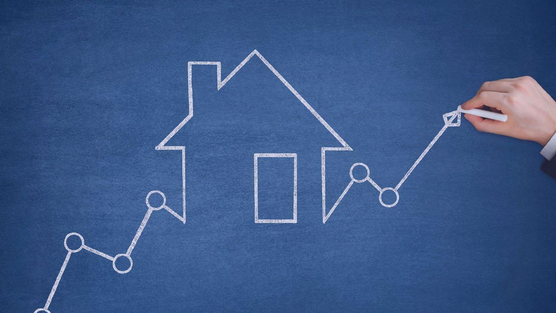 O que é o subsídio do governo: Desenho de uma casa em um quadro negro